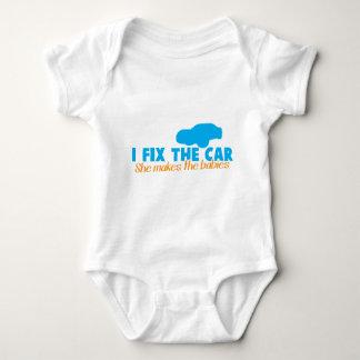 I fix the car- She makes the babies Tshirts