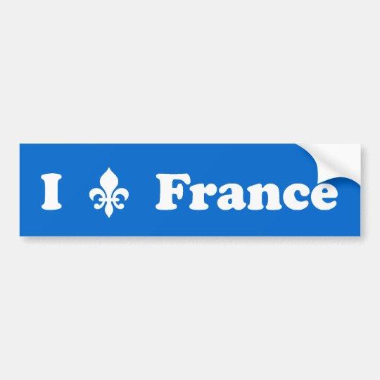 I Fleur-de-Lis France Bumper Sticker