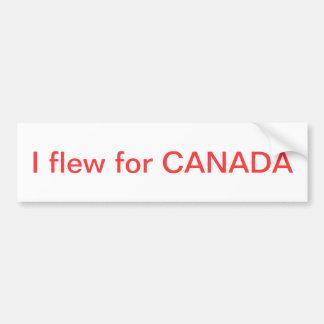 I flew for Canada Bumper Sticker