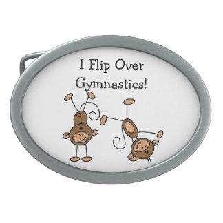 I Flip Over Gymnastics Belt Buckle