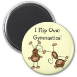 I Flip Over Gymnastics Tshirts and Gifts 6 Cm Round Magnet