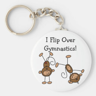 I Flip Over Gymnastics Tshirts and Gifts Basic Round Button Key Ring