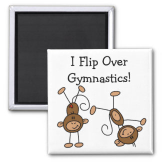 I Flip Over Gymnastics Tshirts and Gifts Square Magnet