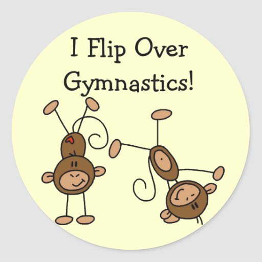 I Flip Over Gymnastics Tshirts and Gifts Sticker