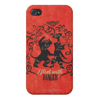 I Flirt With Danger 2 Cases For iPhone 4