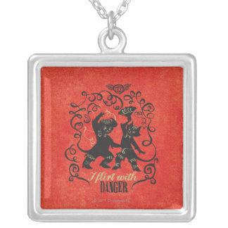 I Flirt With Danger 2 Silver Plated Necklace