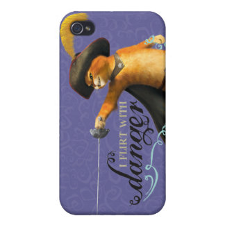I Flirt With Danger (color) iPhone 4 Case