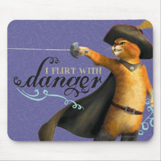 I Flirt With Danger (color) Mouse Mat