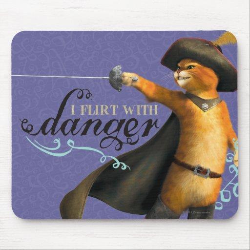 I Flirt With Danger (color) Mouse Pads