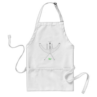 I Fly. Do You? Initials Template Apron
