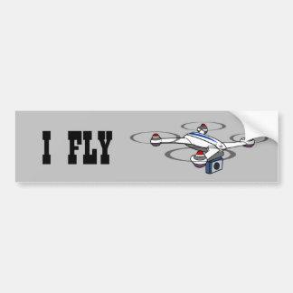 I FLY Drones bumper sticker