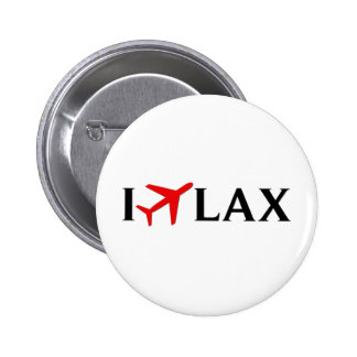 I Fly LAX - Los Angeles International Airport 6 Cm Round Badge