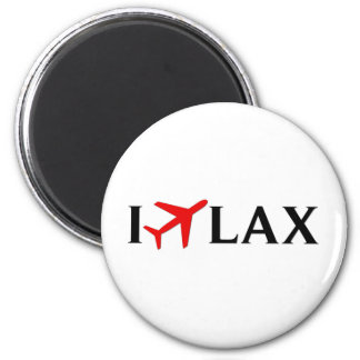 I Fly LAX - Los Angeles International Airport 6 Cm Round Magnet