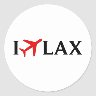 I Fly LAX - Los Angeles International Airport Classic Round Sticker