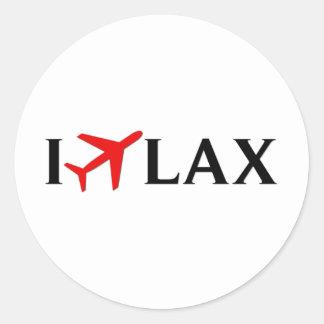 I Fly LAX - Los Angeles International Airport Round Sticker