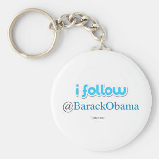i follow @BarackObama Key Ring