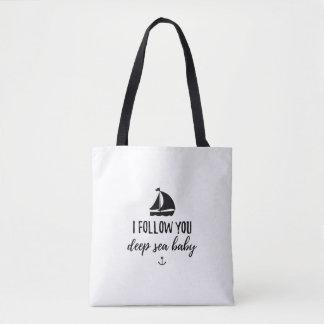 I Follow You Deep Sea Baby Tote Bag