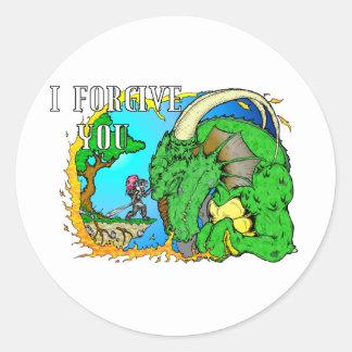 I Forgive Dragon Sticker