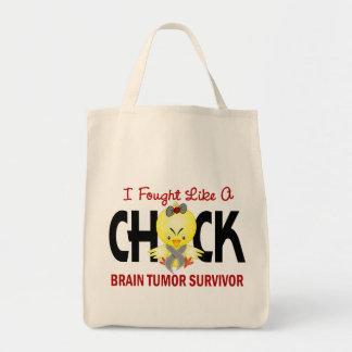 I Fought Like A Chick Brain Tumor Survivor Tote Bag