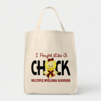 I Fought Like A Chick Multiple Myeloma Survivor Tote Bags