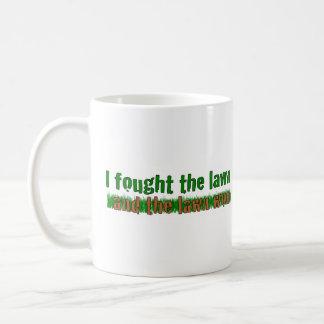 I Fought The Lawn Basic White Mug