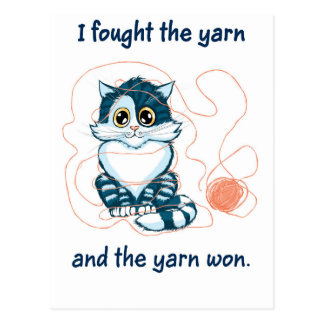 I Fought The Yarn Postcard