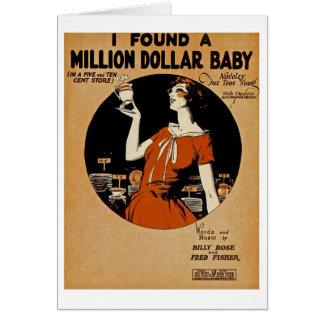 I Found A  Million Dollar Baby Card