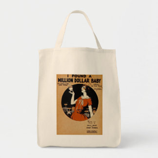 I Found A  Million Dollar Baby Grocery Tote Bag