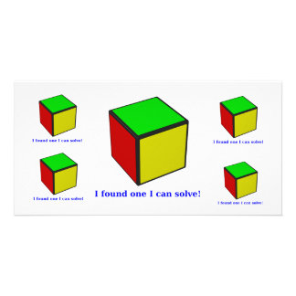 I found one I can solve! Photo Greeting Card