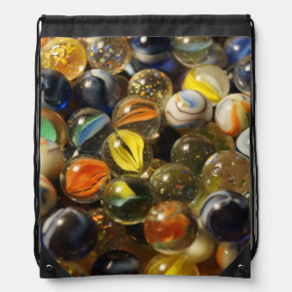 I Found your Marbles Drawstring Backpack
