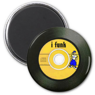 I Funk 6 Cm Round Magnet