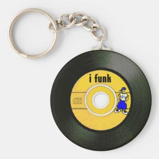 I Funk Basic Round Button Key Ring