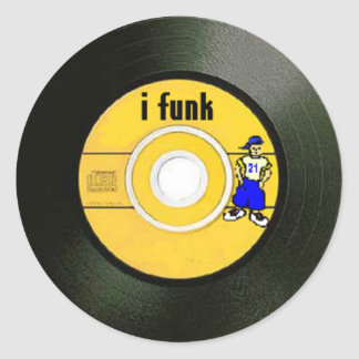 I Funk Classic Round Sticker