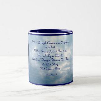 I Gain Strength,Courage and Confidenc... Two-Tone Mug