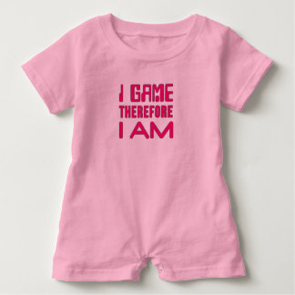 I Game Therefore I AM Gamer Girl Baby Bodysuit