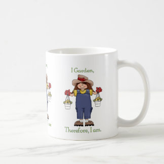I Garden, Therefore I Am - Gardening Tees and Gift Coffee Mugs