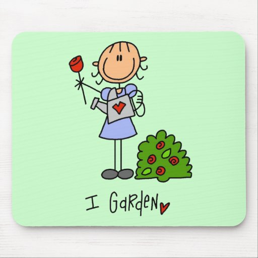 I Garden Tshirts and Gifts Mouse Mats