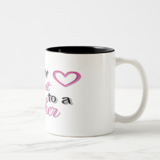 """I Gave My Heart To A Soldier"" Two-Tone Coffee Mug"