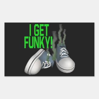 I Get Funky Rectangular Sticker