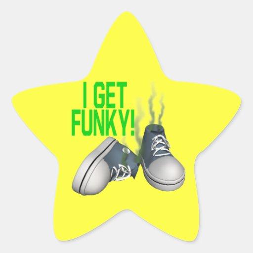 I Get Funky Star Stickers