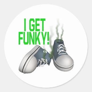 I Get Funky Round Sticker