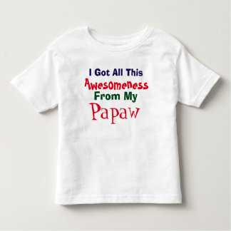 I Get My Awesomeness From My Papaw T-Shirt