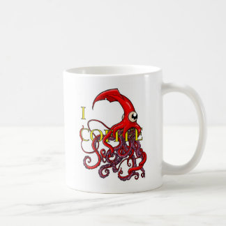 I (Giant Squid Attack) Coffee Coffee Mug