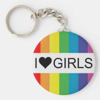 I ❤ GIRLS keychain