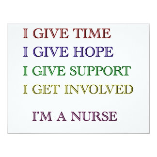 I GIVE, I'M A NURSE CARD