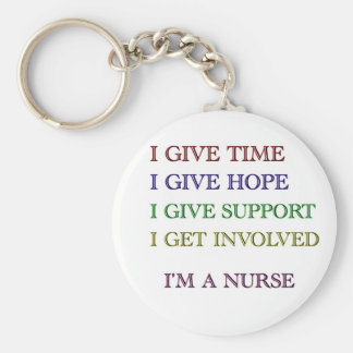 I GIVE, I'M A NURSE KEY RING