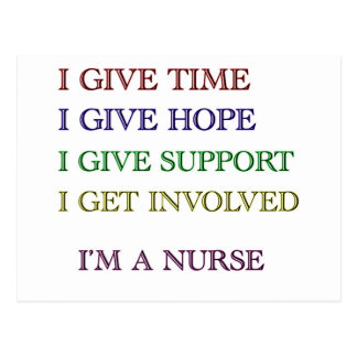 I GIVE, I'M A NURSE POSTCARD
