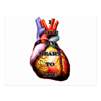 I Give My Heart To You Black Black The MUSEUM Zazz Postcard