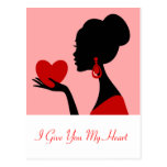 I Give You My Heart Valentine's Day Postcard