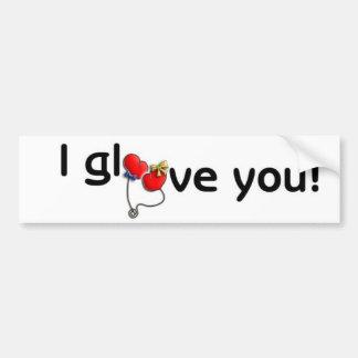 I glove Stiker Bumper Sticker
